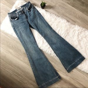 Free People High Waist Bell Flare Jeans 27